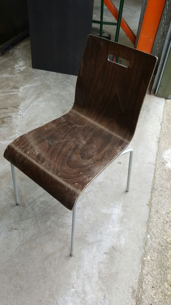 11x Wood and Metal Chairs