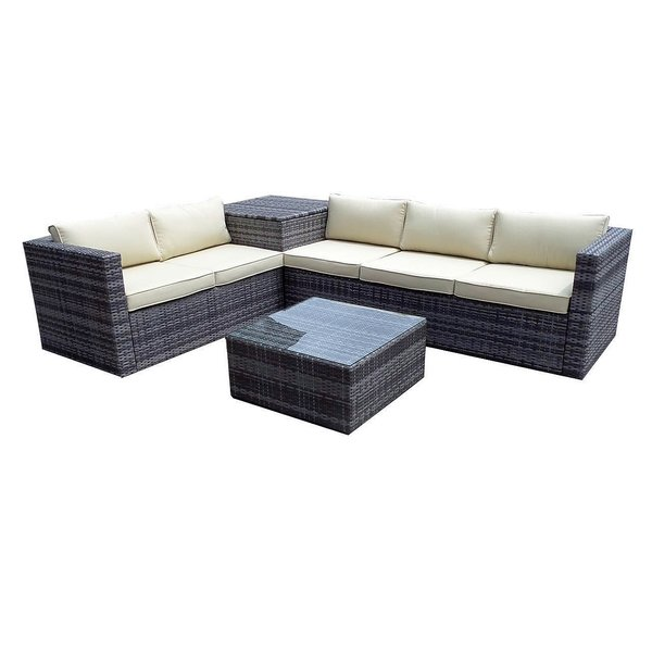 6 x Brand New Zante Corner Sofa Sets Complete with Corner Storage Box