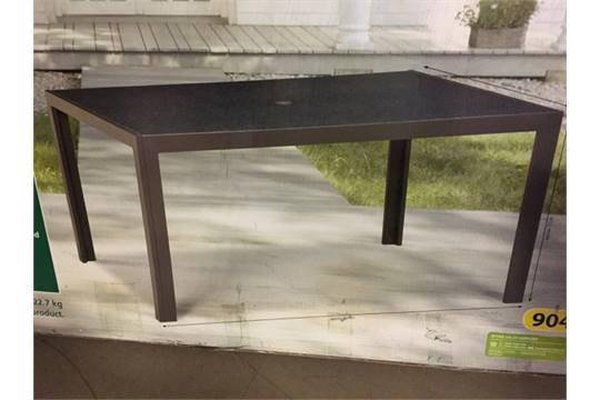 20 x Brand New & Boxed Marble Effect Glass Top Aluminium Patio / Dining Table