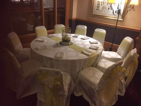 Brocade chair covers