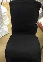 Black chair covers.