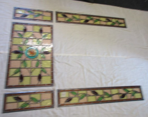 5 Panel Stained Glass Late Victorian to Edwardian Bespoke Entrance Door