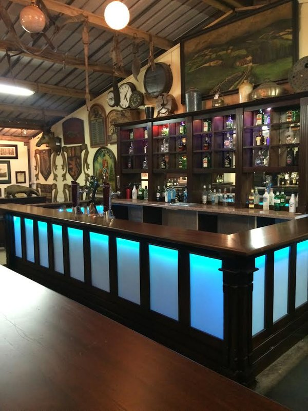 LED / wood bar