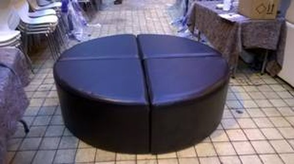black circular seating