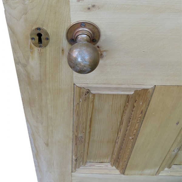 UD003 - Unrestored Original Arched Acid Etched Glass Exterior Door