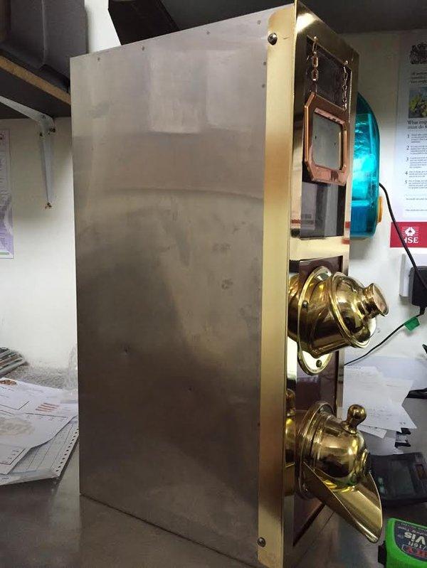 Brass & Stainless Steel Coffee Bean Hopper / Dispenser