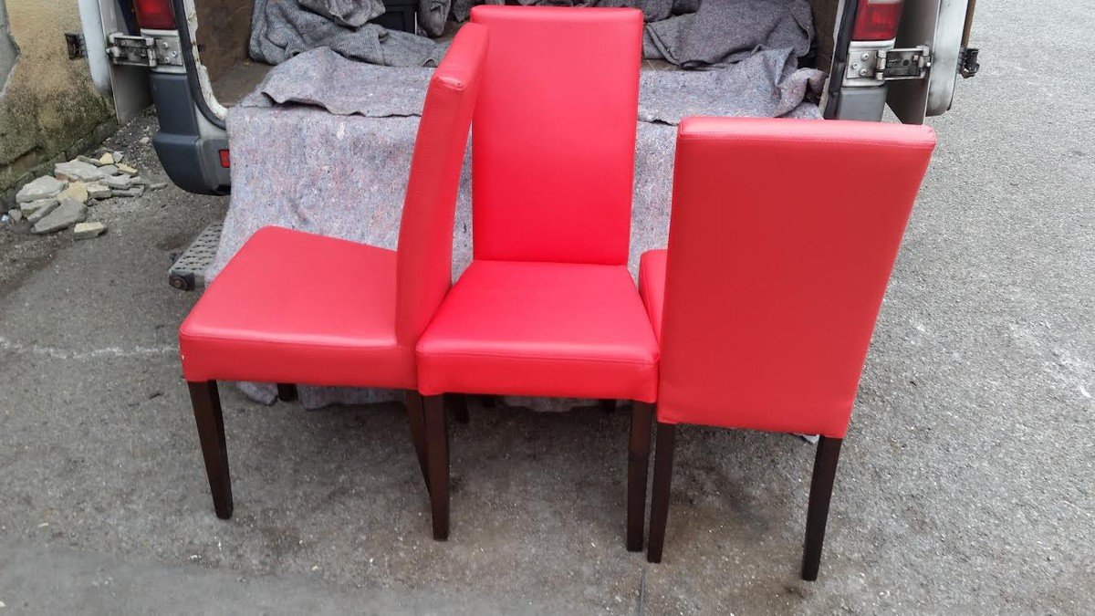 Secondhand trailers inn vogue nottingham 24x new for Red dining chairs for sale