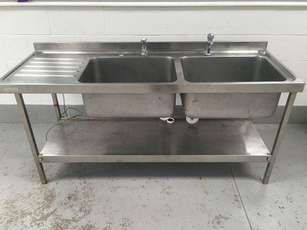 1800mm Double Bowl Sink Left Hand Drainer