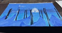 Painted Venetian / Masked Ball Scenic Canvas Theatre / Event Backdrop Drape