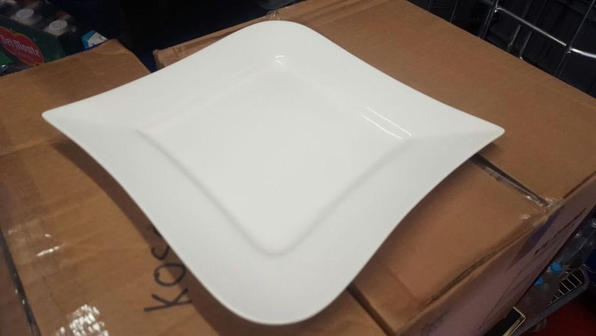 secondhand catering equipment  crockery and china  modern design  -  modern design square dinner plates and rectangular starter  dessertplates