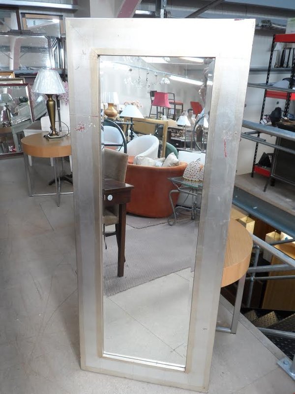 Silver framed mirror