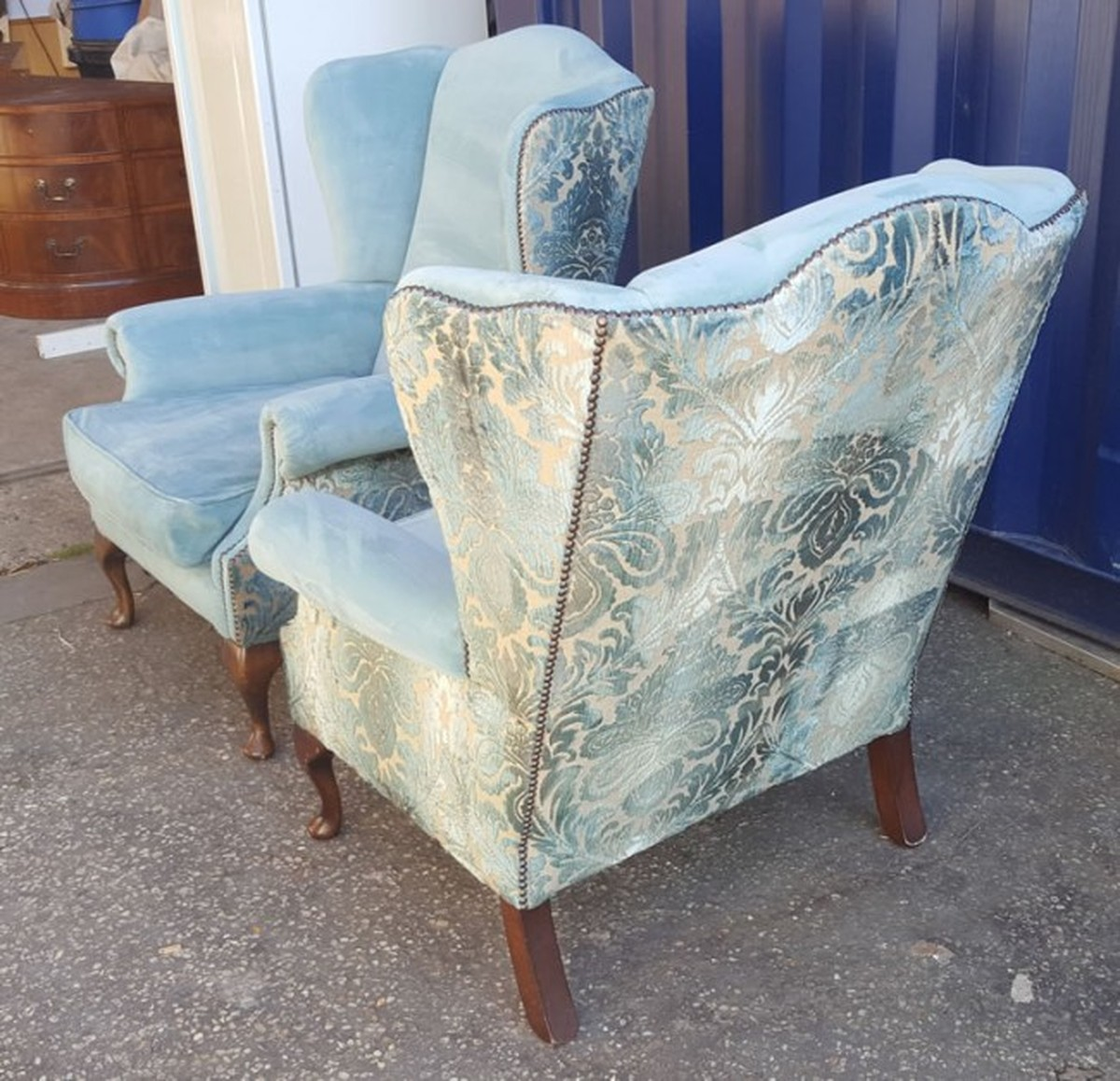Secondhand Generators Mayfair Furniture Caterfair Cambridgeshire Luxury Pair Of Wingback