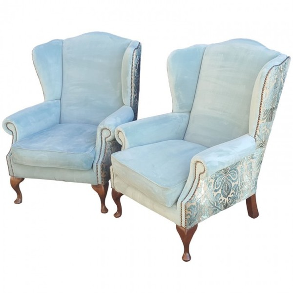 Luxury Pair of Wingback Armchairs (Code: MF2565)
