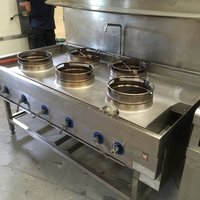 Wok cooker for Chinese cooking