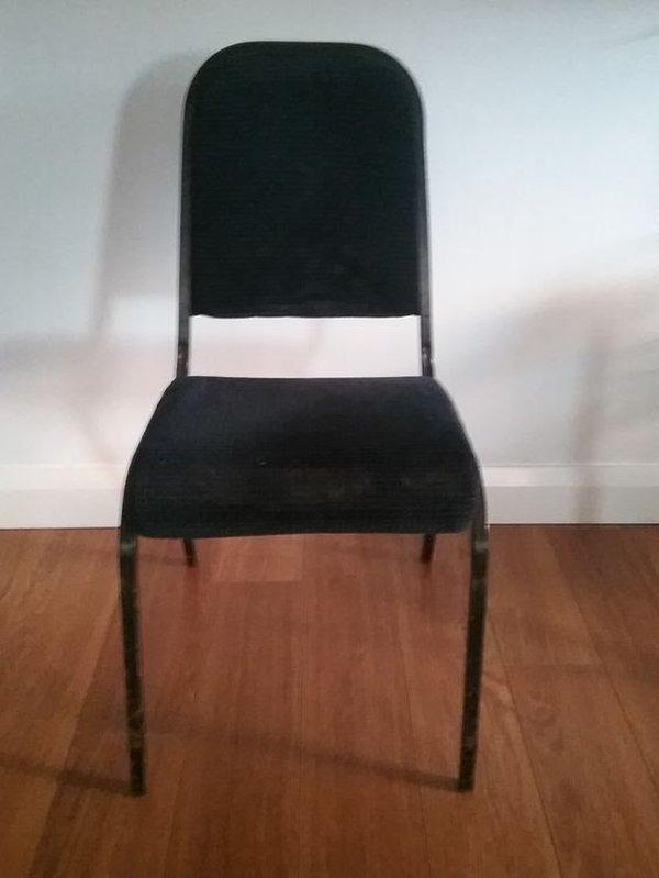 Dark blue banqueting chairs
