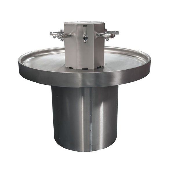 8 person Circular Stainless Hand Wash Basin