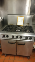 1 gas range with 6 burners