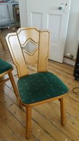 12 Heavy Pine German Made Chairs