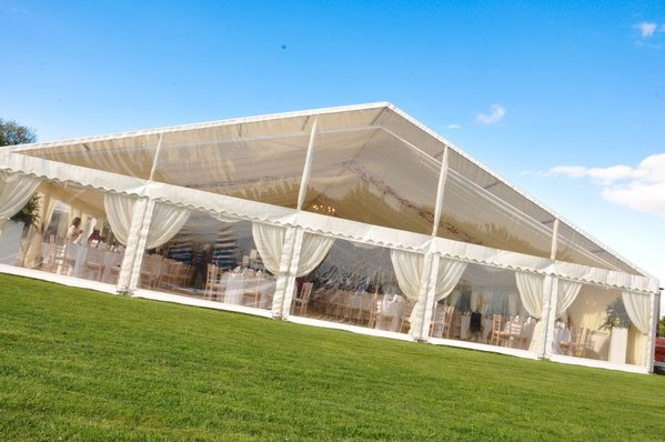 15m Clear (0.5mm) Clear Gable Tent Sets