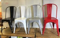 100x Metals Chairs (Four different colours available)