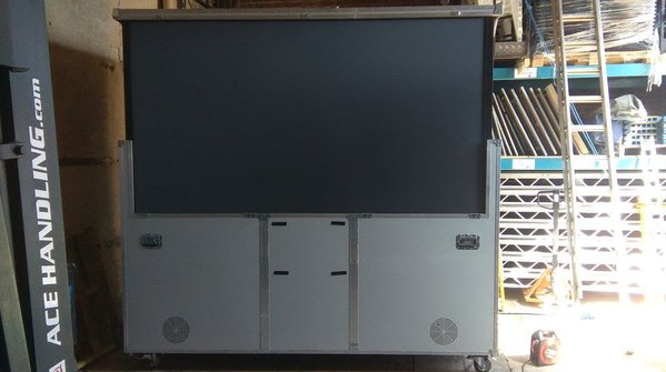 "Trojan 110"" Projection Screen Flightcase System"