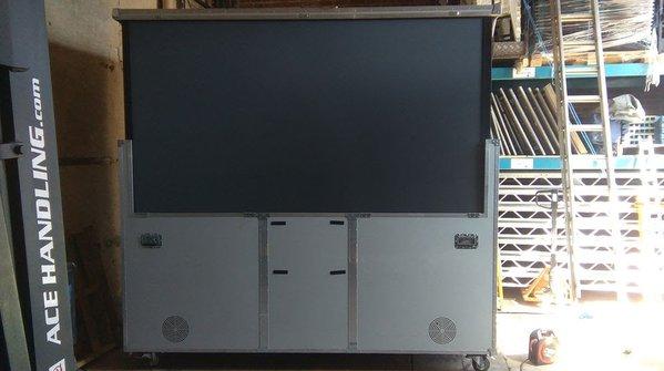 """Trojan 110"""" Projection Screen Flightcase System"""