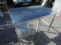 Stainless steel table 1.32m long