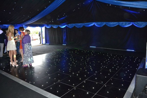 18ft x 18ft Black LED Dance Floor, Grumpy Joes