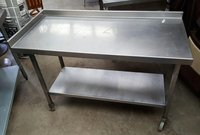 Stainless Steel Table with Corner Upstand