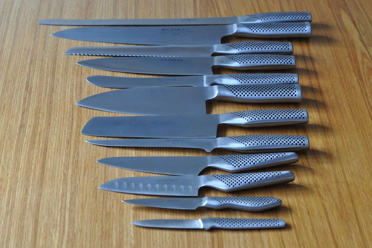 secondhand catering equipment chefs knives set of 12 global global chef s knife profesional