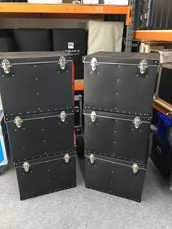 22x Starvile LED RGB PAR 64 Floor Cans Cased