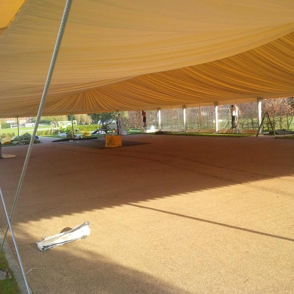 Pleated 20m marquee roof linging