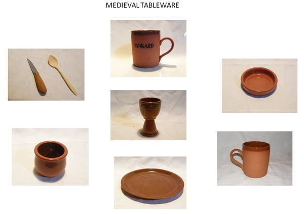 Medieval Crockery hire