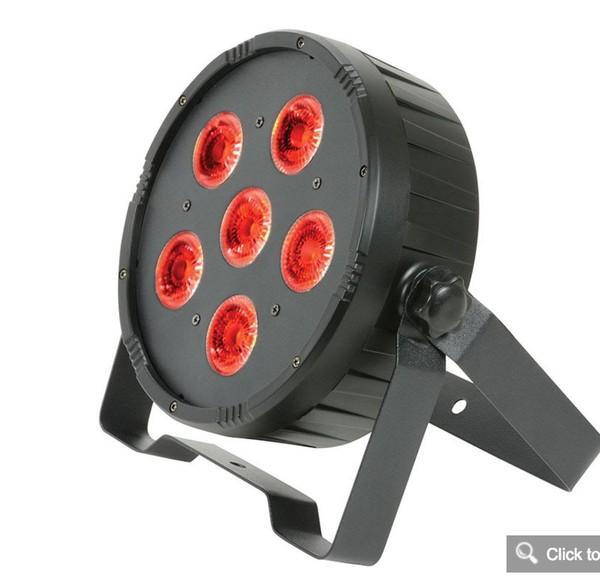 LED Uplighter Set 4x RGBAWUV Flat Par Cans