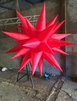 4x 6Ft Red Inflatable Stars