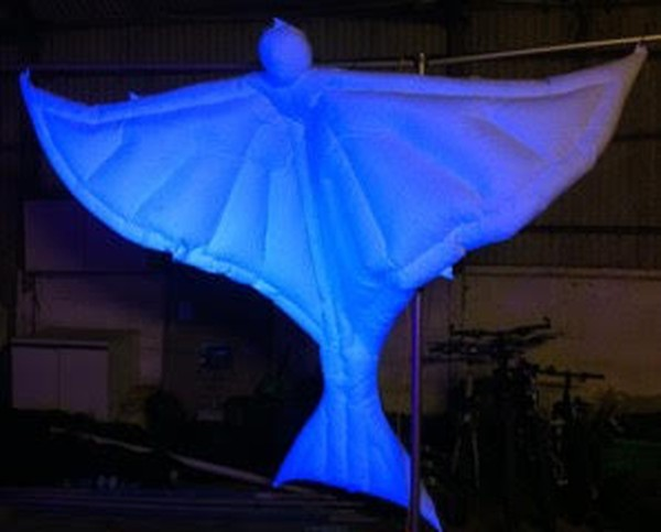 3X Giant 9Ft Inflatable Ghost / Spirit / Ghoul Hanging Decorations - Halloween Themed Event