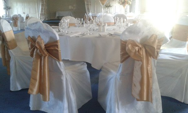 Chair Covers White Round Top