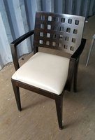 37 x leather & wooden frame armchair
