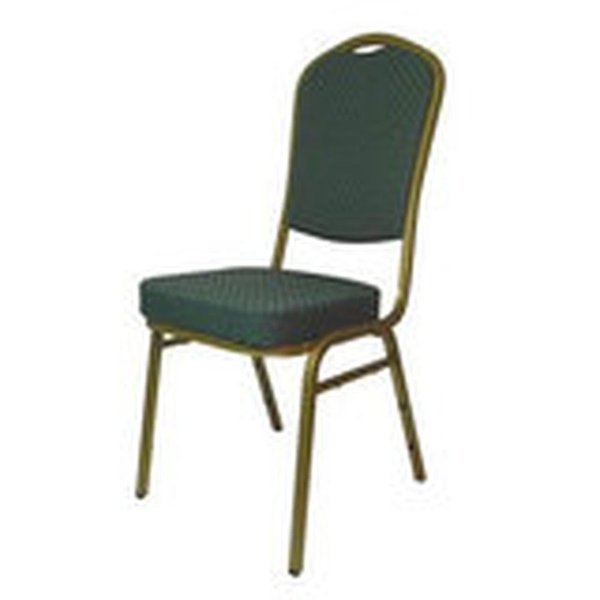 15x Green On Gold Frame Emporer Banqueting Chairs
