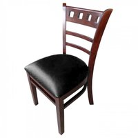 Black Enzo Walnut Restaurant Dining Chairs