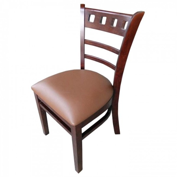 Brown Enzo Walnut Restaurant Dining Chairs