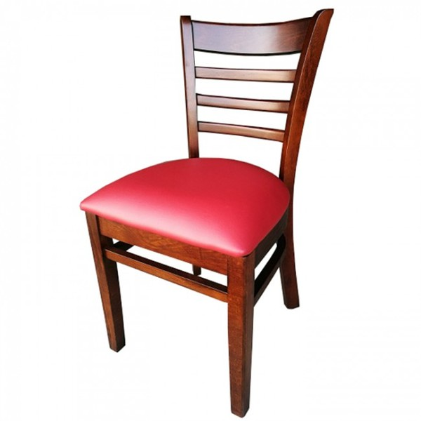 Walnut Red Dallas Restaurant Dining Chairs