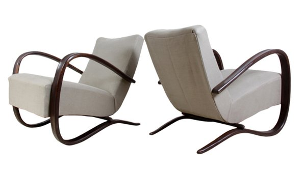 Pair of Art Deco Chairs by Jindrich Halabala c.1930  H: 72cm W: 72cm D: 88cm  Web Item ID: 69492