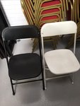 Folding Chairs White and Black