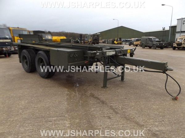 20Ft Shipping Container Trailer 2 Axle 15 Ton GVW