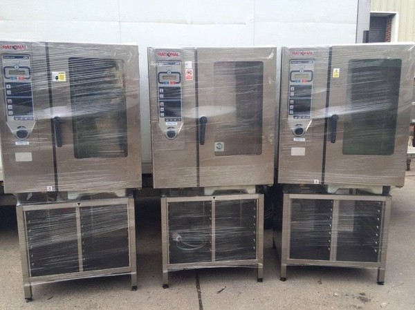 Rational CPC 10 Grid Combi oven, with stand