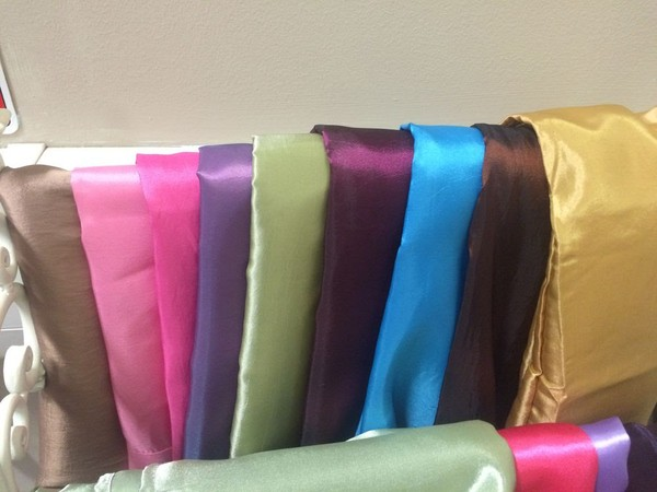 Coloured Table Toppers, Napkins, Table Runners etc