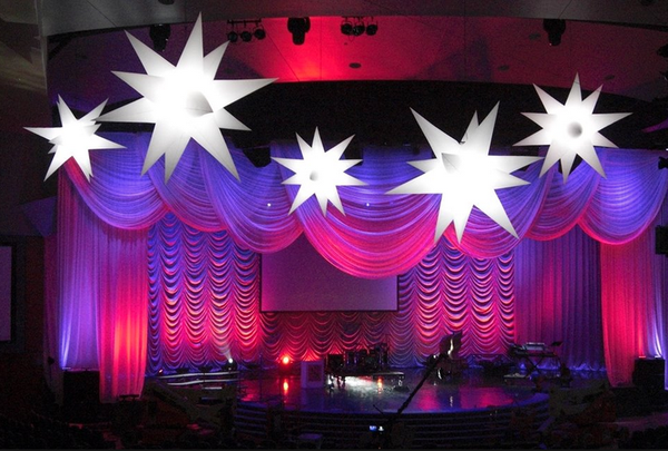 3x 6ft White Inflatable Stars