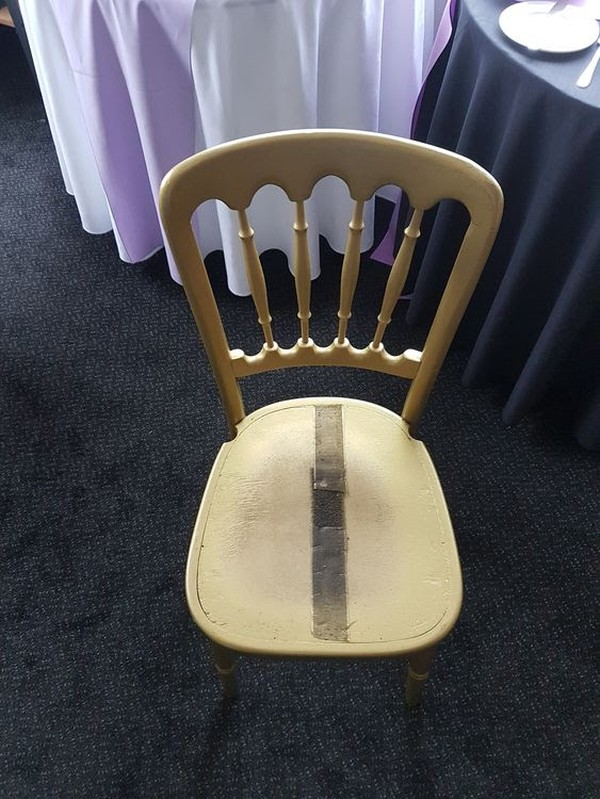 100x Gold Cheltenham Banquet Chairs