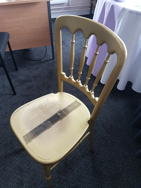 100x Gold Cheltenham Banqueting Chairs